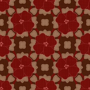 Bold Red Floral on Texture