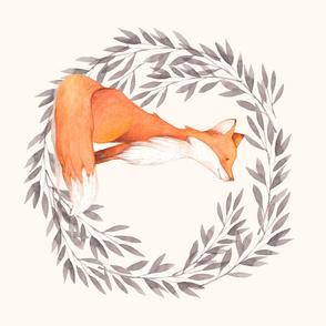 Floral Fox Wreath