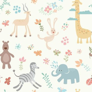 Wild Animals & Flowers