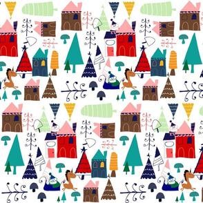 Christmas unicorn houses