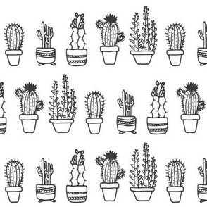Potted Cactus Sketch
