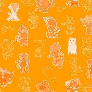 Halloween Kitties (Orange)
