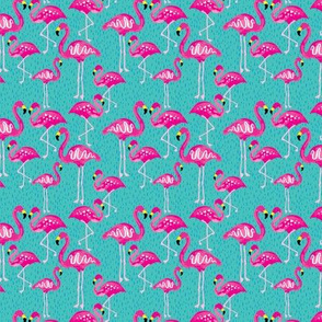 Flock of Pink Flamingos (Small)