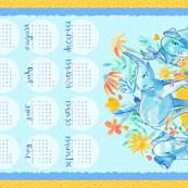 2017 Tea Towel Calendar - Elefun