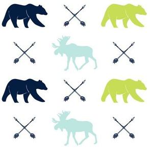 moose, bear, and arrows || the bear creek collection