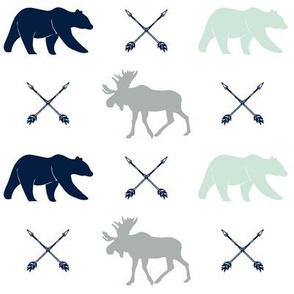 moose, bear, and arrows || the northern lights collection
