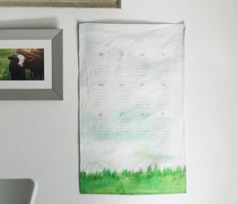 Painted Landscape Tea Towel 2017