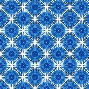 Chinese Chrysanthemums Blue