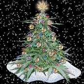 Cannabis Xmas Tree 8x8