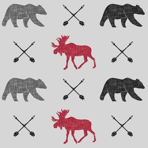 moose, bear, and arrows (fog) || the happy camper