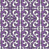 SUNNY SIDE Black & White on Purple