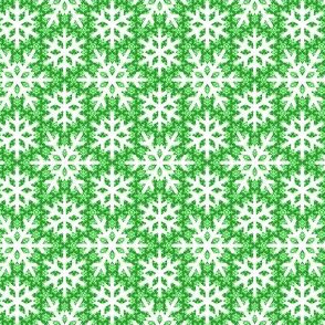 snow on snow : emerald green