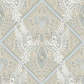 love bird lace silver
