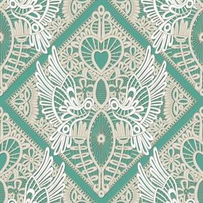 love bird lace mint