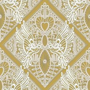 love bird lace gold
