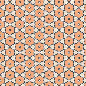 Peach Flower Geometric