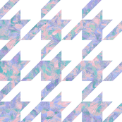 painted giant houndstooth - pink, purple and teal