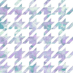 painted houndstooth - teal and purple