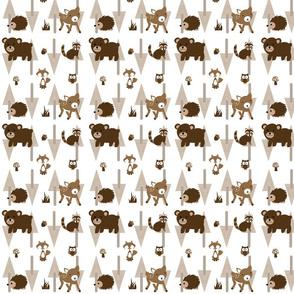 Forest_Fabric Deer Bear Fox Mushroom Owl Acorn