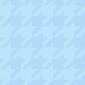 Carolina blue crackle houndstooth
