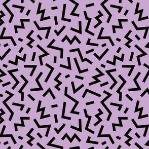 Cool geometric eighties retro confetti style memphis zigzag strokes violet fall