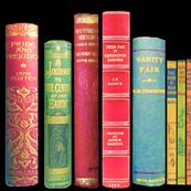 Antique Books /Vintage Bookshelf/ victorian