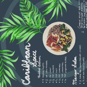 Caribbean_Salmon_Recipe_Tea_Towel