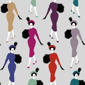 vintage ladies - light gray