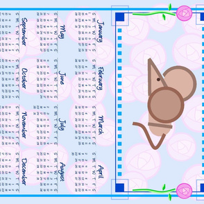 Rennie 2017 Mouse calendar