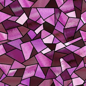 Stained Glass Magenta