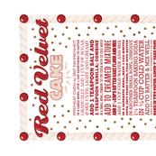 Red Velvet Cake Recipe Tea Towel*