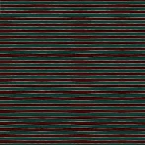 wavy stripe red gold green
