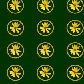 Yellow Flower Celadon Citrine-Fabrics Projects