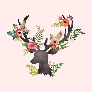 Floral Rustic Deer - Floral Dreams