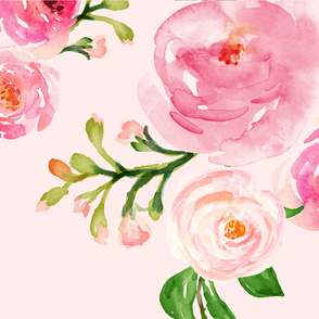 Minky - Roses for Julie - Minky Blanket & 1 Print per Yard