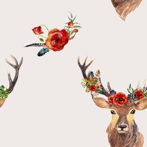 """Deer in Love 7"""" - IVORY"""