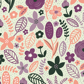 Summer Floral Green Purple