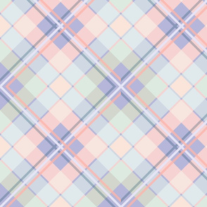 Plaid in Peach and Shadowed Lavender