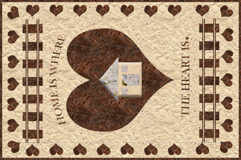 Home is where the heart is wallpaper anniedeb spoonflower for Wallpaper home is where the heart is