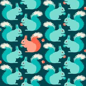 Squirrels (on teal)