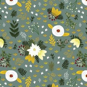Merry Fields - Gray Teal
