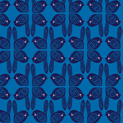 graphic birds in blue