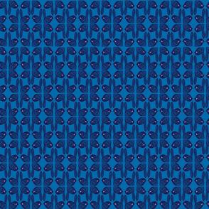 graphic birds in blue