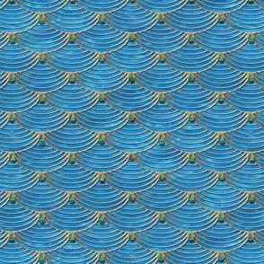 Mermaid Scales Green Water Drops