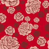 rock + roses - blush/red/burgundy