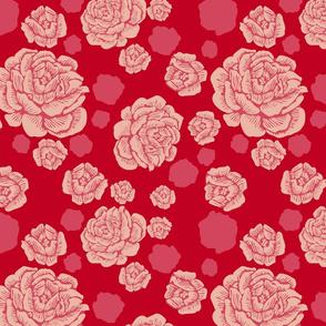 rock + rose - deep red/bold pink/blush