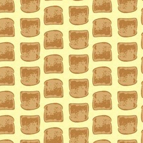 Retro Toast on Pale Yellow_Miss Chiff Designs