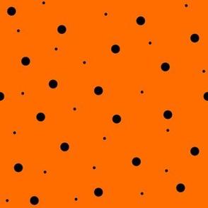 Halloween Orange with Black Dots