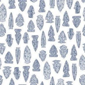 arrowheads - navy on white