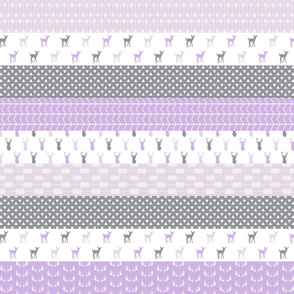 Girl Woodland (purple) || wholecloth